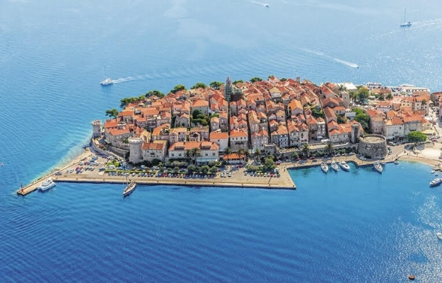 korcula view from above